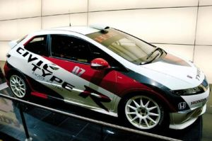 honda civic racing pic