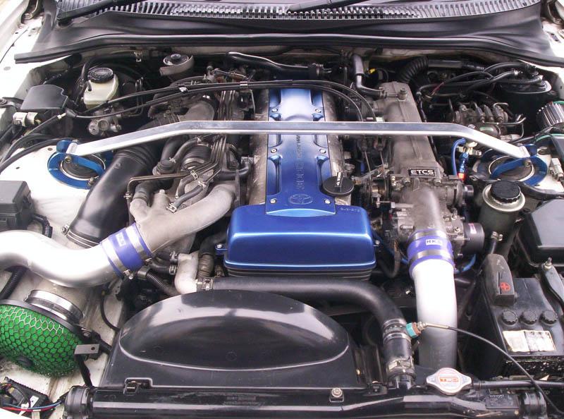 toyota supra with twin turbo